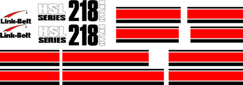 Linkbelt 218HSL Decal Set