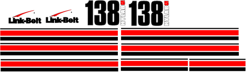 Linkbelt 138H 5 Decal Set