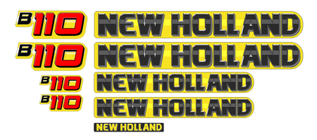 New Holland B110 Decal Set