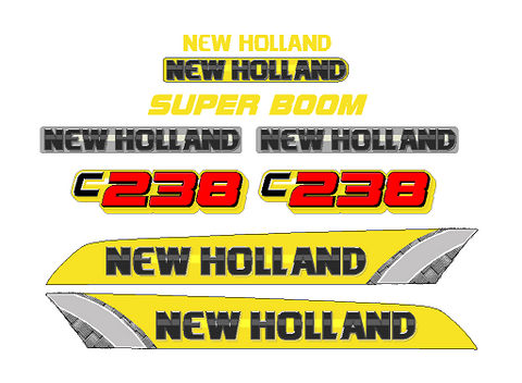 New Holland C238 Decal Set