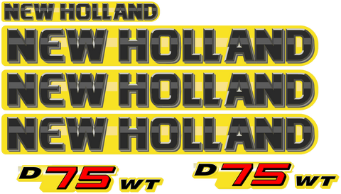 New Holland D75 WT Decal Set