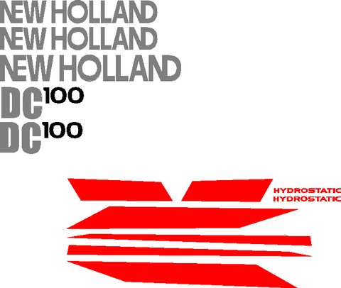 New Holland DC100 Decal Set