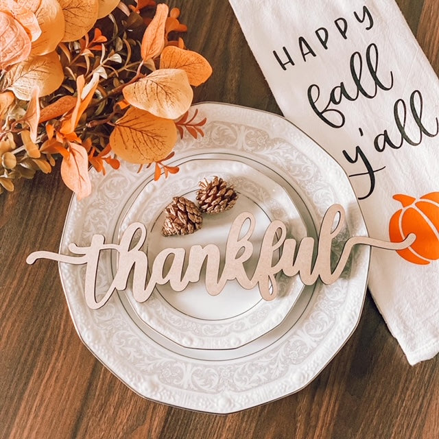 Fall Themed Plate Toppers