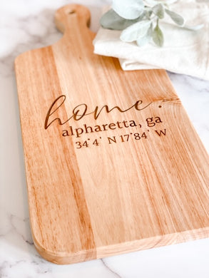 Custom Engraved Charcuterie Board