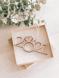 2021 Engaged or Married Ornament