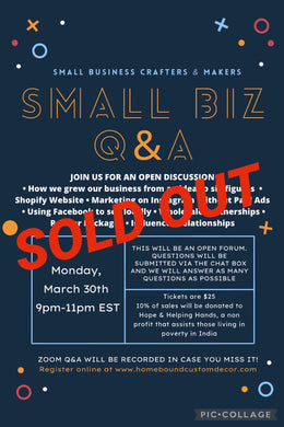 March 30th Small Business Q&A Session