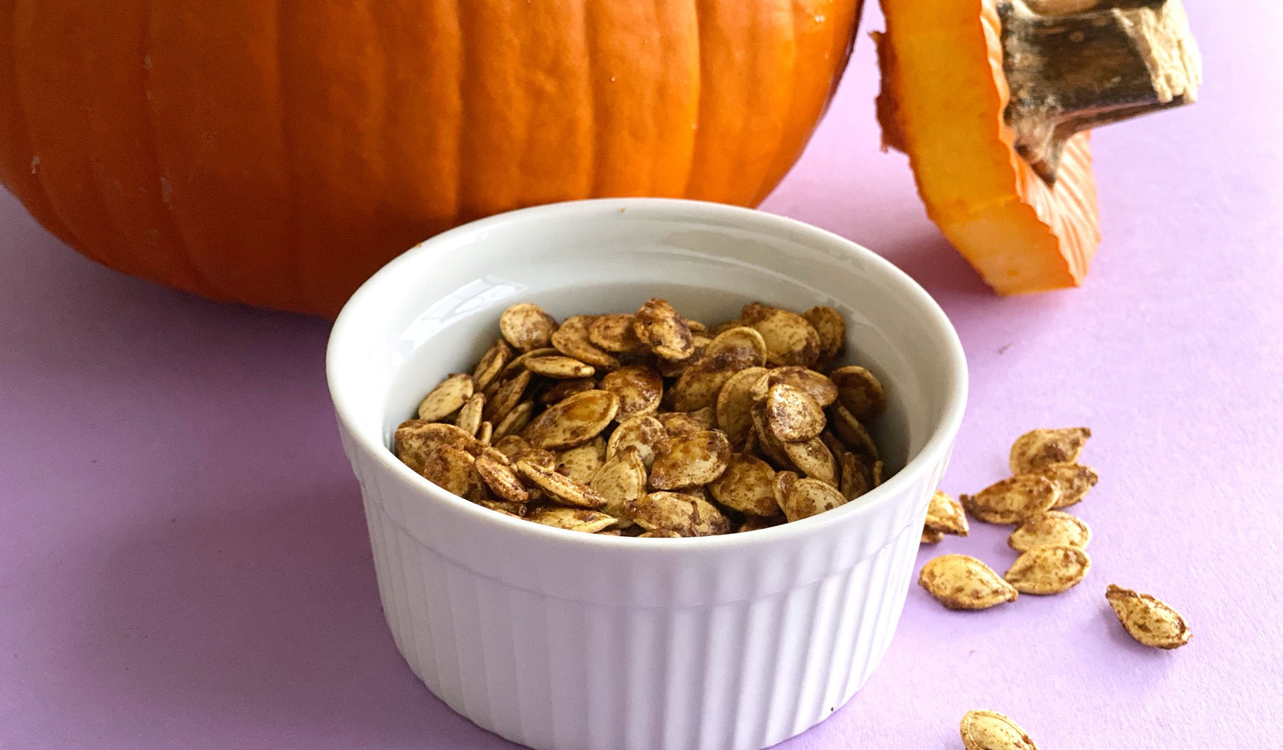 photo of roasted pumpkin seeds