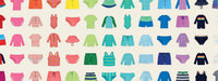 A rainbow array of Primary swim separates for babies and kids that can be mixed and matched.