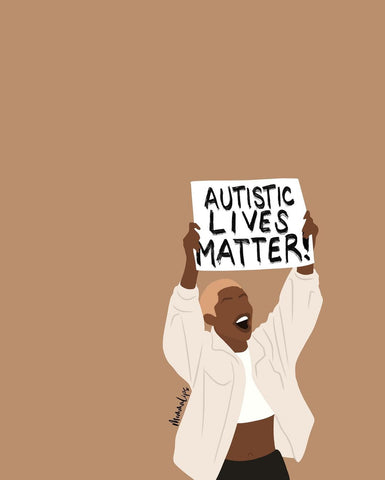 "Jessie's infographic that says ""Autistic Lives Matter""!"