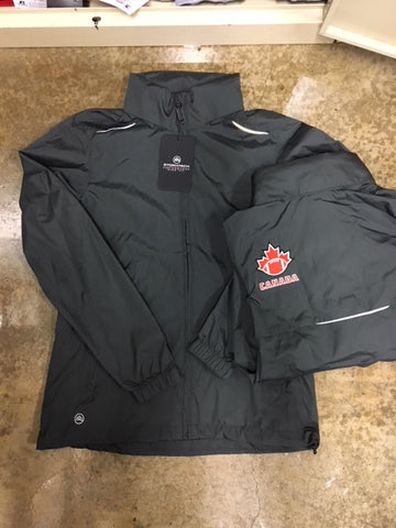 Charcoal FC Windbreaker with Hood - Football Canada