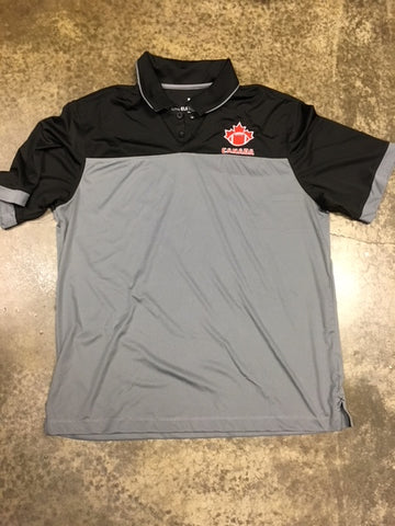 Grey and Black FC Polo - Football Canada