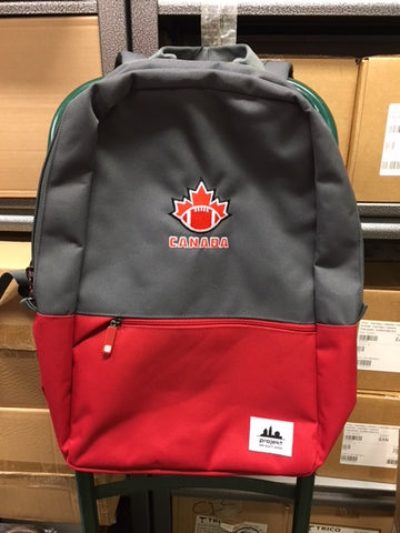 Red and Grey FC Backpack - Football Canada