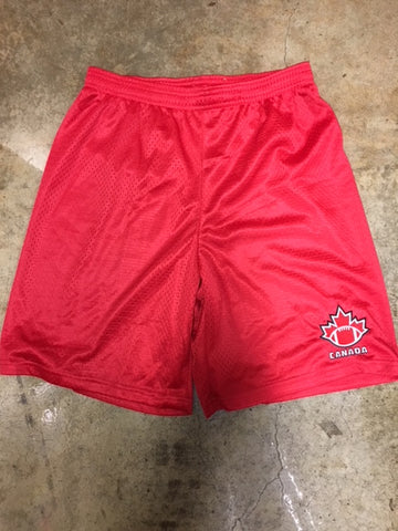 Red Mesh FC Shorts - Football Canada