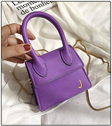 Chain Strap Solid Leather Micro Bag
