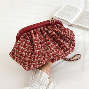 Beaded Slouchy Clutch Bag