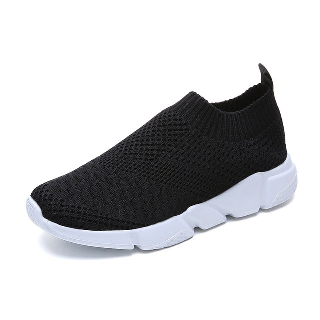 Breathable Mesh Cotton Fabric Slip On Sneakers