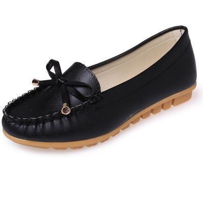 Butterfly Knot Slip On Loafers Moccasin Flats