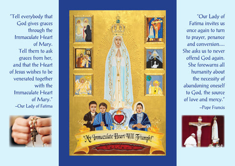 Our Lady of Fatima Icon Triptych