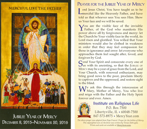 Year of Mercy Holy Card