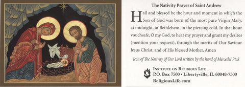 Nativity Prayer of St Andrew