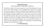Election Prayer Card