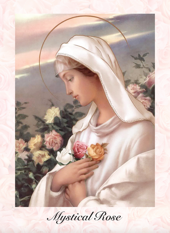 Mystical Rose Prayer Card