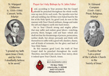 St John Fisher Prayer Card for Holy Bishops - Triptych