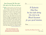 A Spiritual Offering for You: Holy Hour Prayer Leaflet