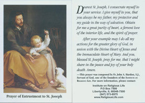 Prayer of Entrustment to St Joseph/ Oración de Consagración a San José