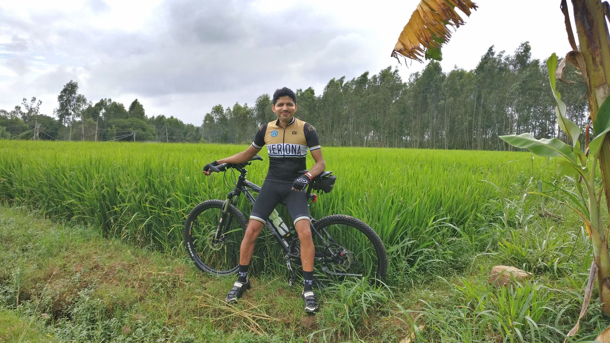 Biju Kunnappada on a weekend ride in Bengaluru enjoying the best of nature blissfulness through cycling