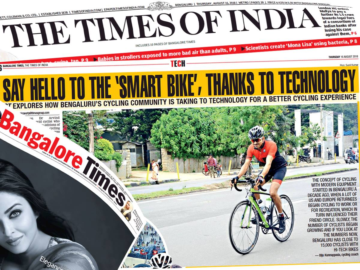 Biju Kunnappada & Cycling Boutique In the News on Cycling Innovations and Technology in Cycling - Time of India