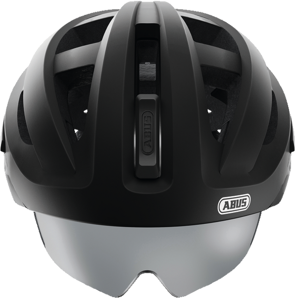 Abus In-Vizz Helmet Ascent Velvet Black - with integrated and fully retractable visor - Cycling Boutique