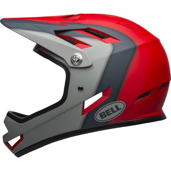 BELL FULL FACE HELMET - SANCTION  (SIZE: SUPERFIT M: 55-57 CMS)	MATTE CRIMSON / SLATE / DARK GREY - Cycling Boutique