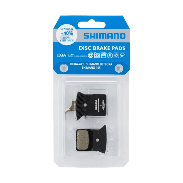 Shimano Disc Brake Pads | Dura Ace R9150 L03A Resin Pad W/Fin & Spring Ice-Tech (Y8PU98040) - Cycling Boutique