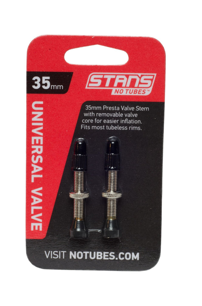 Stan's Tubeless Valve Stem | NoTubes -  Universal, Pair, Brass, Presta - Cycling Boutique