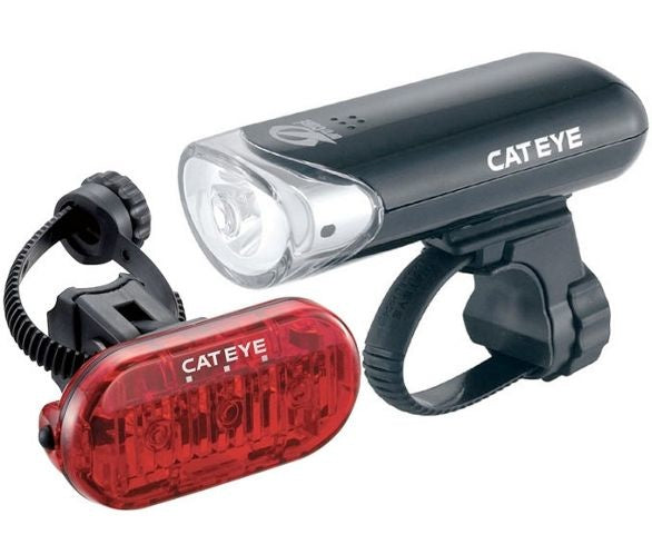CATEYE FRONT & REAR LIGHT COMBO - HL-EL135N & OMINI-3 - (EXTENAL BATTERY TYPE) - TL135N /LD135 - Cycling Boutique
