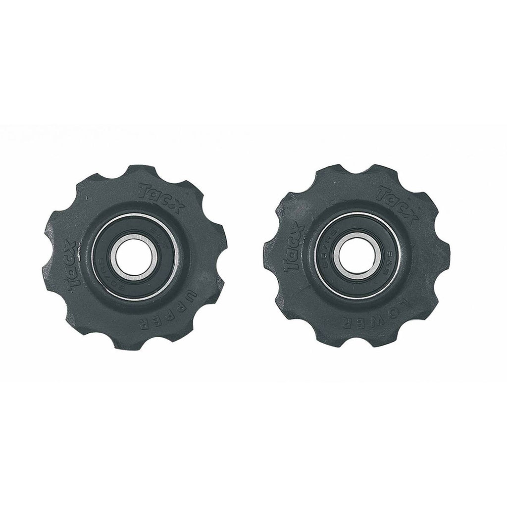 Tacx Jockey Wheels | T4000 10 Teeth, Cartridge Bearing Black For 7/8 Speed Shimano & 8/9/10 Campagnolo - Cycling Boutique