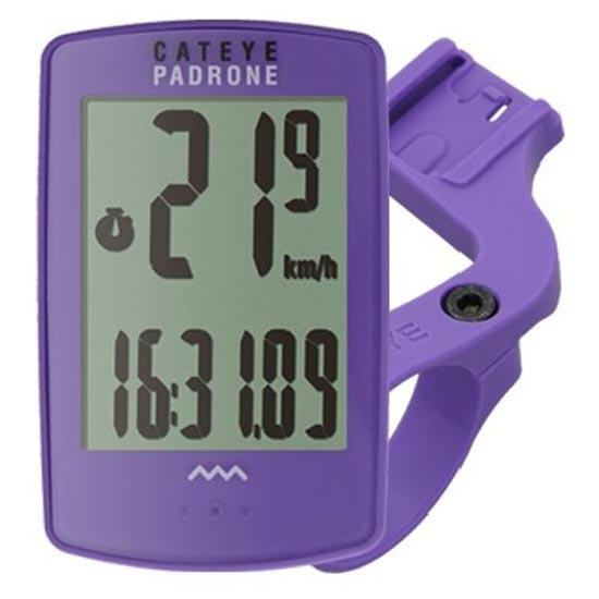 CATEYE CYCLOCOMPUTER PADRONE WIRELESS PURPLE - CC-PA100W (OUT-FRONT BRACKET BUNDLE) - Cycling Boutique