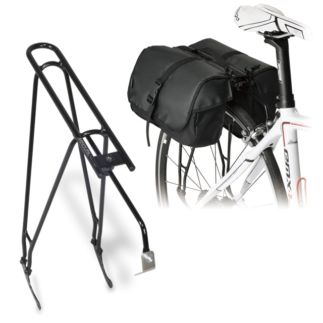 Minoura Pannier Bags with Rear Luggage Rack | RC-1000 and Ostrich Japan Pannier Bag - Cycling Boutique