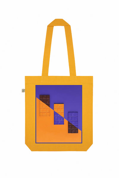 Love Chocolate Print Tote Bag
