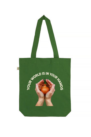 Green World Print Tote Bag