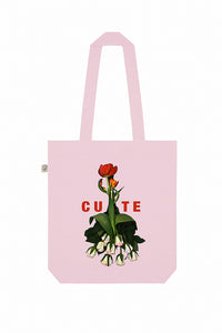 Cute Flower Lady Print Tote Bag