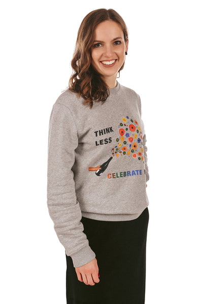 Celebrate More Print Sweatshirt