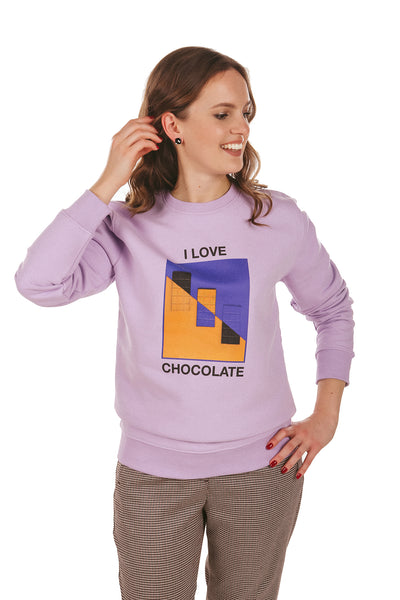 Chocolate Love Print Sweatshirt