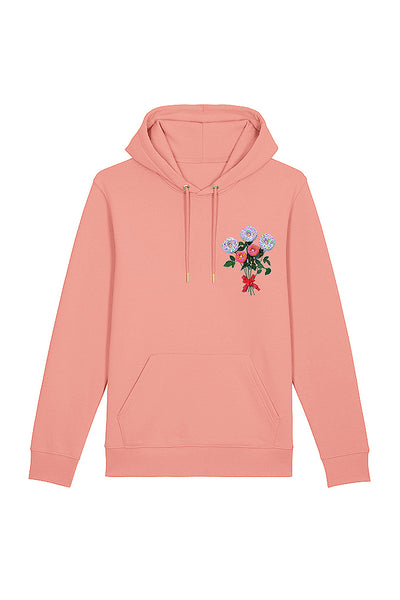 Donut Flowers Print Hoodie - Canyon Pink