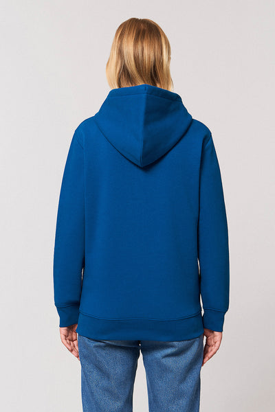 Magic Deer Chest Print Hoodie - Sapphire Blue