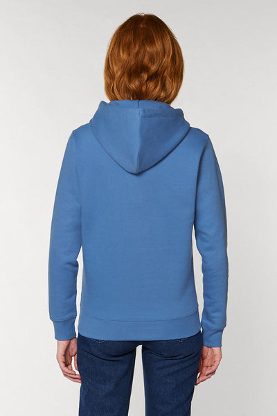 Magic Deer Print Hoodie - Cornflower Blue