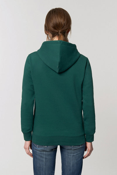 Organic Cotton Chest Print Hoodie - Sacramento Green