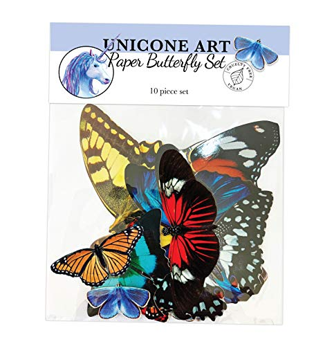 Paper Butterfly Set for Crafts and Resin Art - 10 Pack