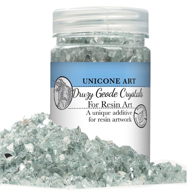 Druzy Geode Crushed Glass for Resin Art (1-Pound Jar)